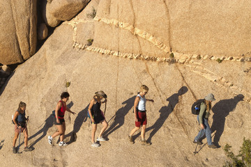 Group of women hiking.