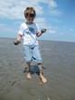 Muschelsammler im Wattenmeer