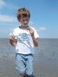 Im Wattenmeer bei Niedrigwasser
