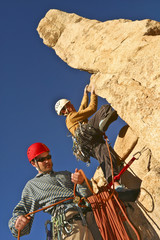Team of rock climbers.