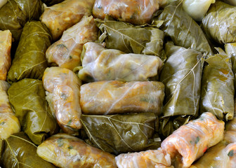 Stuffed cabbage with meat and rice, Romanian treditional cuisine