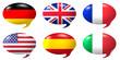 Sprechblasen 6 Nationen