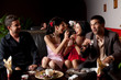 couples funny dessert feeding