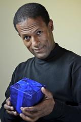 Blue Gift Black Man