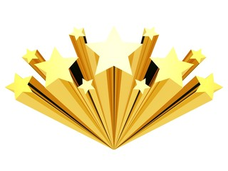 gold star clip art isolated on a white background