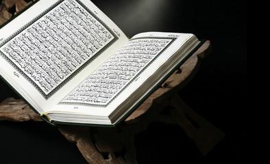 Closeup shot of the Koran