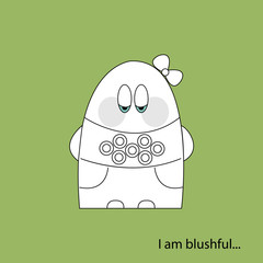 I am blushful white