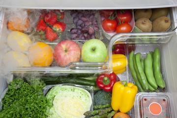 冷蔵庫内の野菜果物室