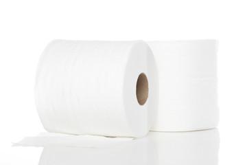 Clean white toilet paper