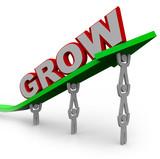 Grow - Teamwork People Reaching Goal Through Growth