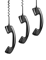 hanging rotary telephone hand