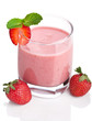 strawberry smoothie isolated