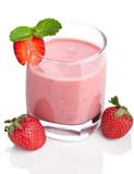 strawberry smoothie isolated