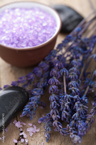 lavender and herbal salt