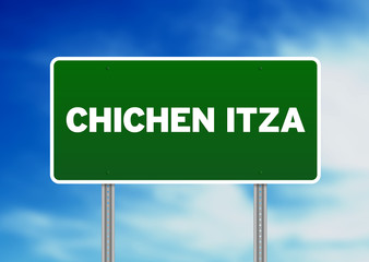Chichen Itza Highway Sign