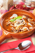 Mushroom and noodle soup