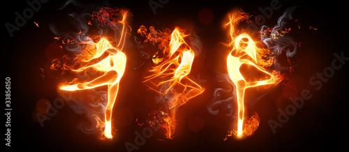 Leinwandbild Motiv fire dance