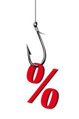 Angeln von Prozente