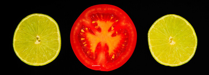 Tomate und Limette
