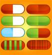 Постер, плакат: colored and shiny medic pills set