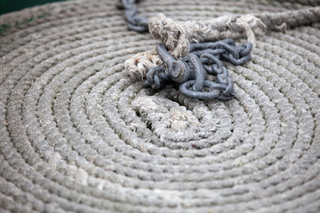 zur Schnecke gelegtes Seil