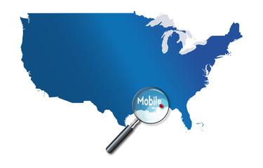 Mobile, Alabama, États-Unis, USA - localisation