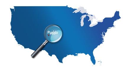 Pueblo, Colorado, États-Unis, USA - localisation