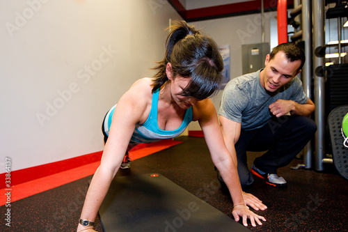 Personal Trainer with Pushups
