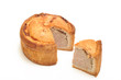 Pork Pie with Slice cut out
