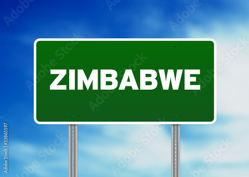 Zimbabwe Highway Sign