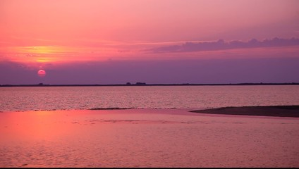 Summer sunset in La Camargue (France)