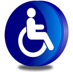 Handicap glossy icon