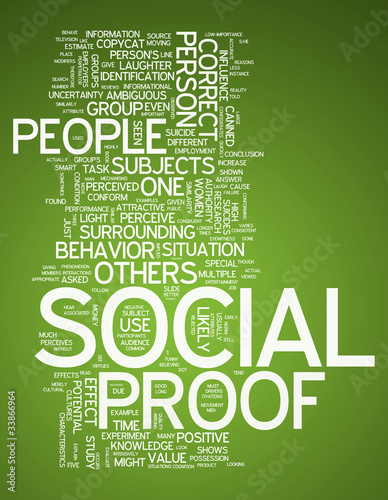 "Word Cloud ""Social Proof"""