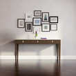 Classic, antique, Buffet console , wall with frames
