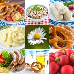Bavarian food collage
