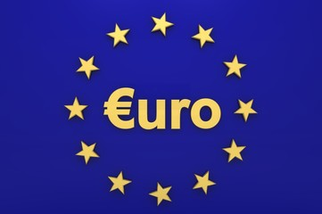 Euro-Tafel blau