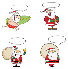Santa Claus Vector Collection