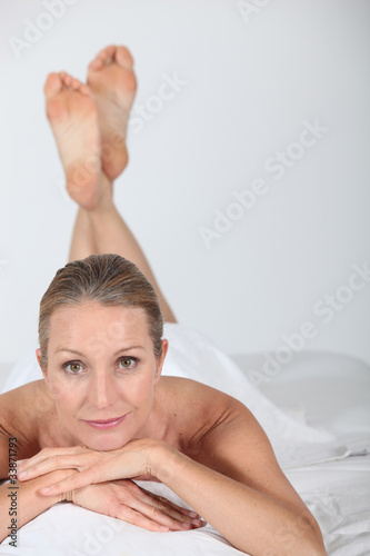 portrait of a woman in spa