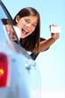 Drivers license car woman