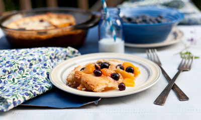 Blueberry and Peach Pie