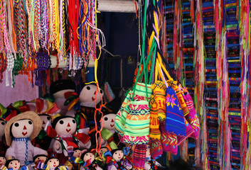 Handmade bags at market