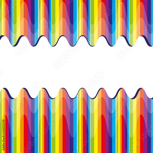 Abstract bacground with rainbow, vector illustration