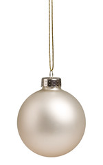 White Christmas bauble isolated on white