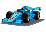 Cartoon racing car