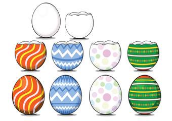 Cartoon egg shell