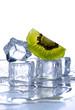 cubetti ghiaccio e kiwi - due