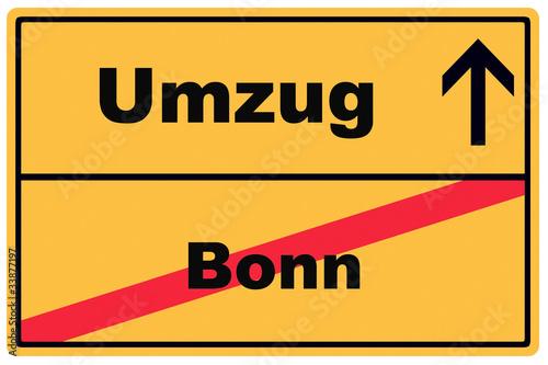 Schild Umzug Bonn