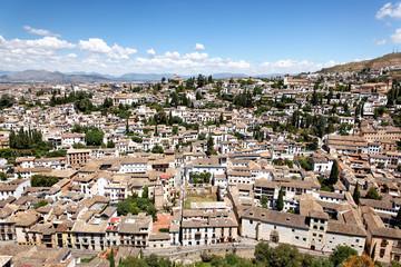 Blick von Alhambra auf Granada und Albaicin, Spanien