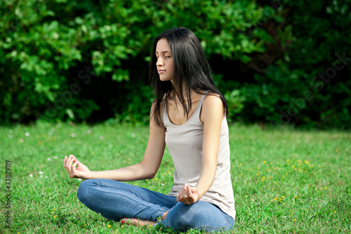 Woman doing yoga meditation