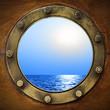 Leinwanddruck Bild - Boat porthole